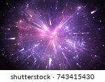 time warp  traveling in space.... | Shutterstock . vector #743415430