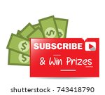 subscribe and win prizes vector ... | Shutterstock .eps vector #743418790