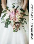 portrait of bride with her...   Shutterstock . vector #743419660