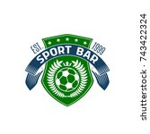 soccer sport bar or football... | Shutterstock .eps vector #743422324
