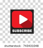subscribe button for channel... | Shutterstock .eps vector #743431048