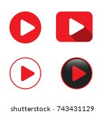 set of four play video buttons... | Shutterstock .eps vector #743431129
