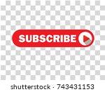 online subscribe vector button... | Shutterstock .eps vector #743431153