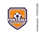 football college league badge... | Shutterstock .eps vector #743432188