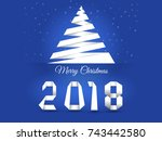 merry christmas. background... | Shutterstock .eps vector #743442580