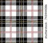 clan macpherson woven scottish... | Shutterstock .eps vector #743444086