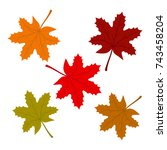 maple leafs | Shutterstock .eps vector #743458204