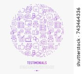 testimonials and quote concept...   Shutterstock .eps vector #743464336