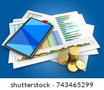 3d illustration of business... | Shutterstock . vector #743465299