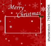christmas background with... | Shutterstock .eps vector #743465404