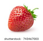 Isolated strawberry. single...