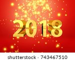 celebration of the new year... | Shutterstock . vector #743467510