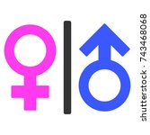 toilet gender symbol flat... | Shutterstock . vector #743468068
