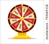 casino fortune. modern cartoon... | Shutterstock .eps vector #743469118