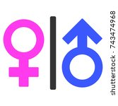 toilet gender symbol flat... | Shutterstock .eps vector #743474968