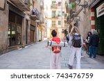 barcelona  spain  oct. 14  2017 ... | Shutterstock . vector #743476759