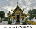 "Small photo of Thailand temple ""Wat-In-Ta-Kin"" has famous in Chiang Mai province."