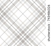 plaid check pattern in pastel... | Shutterstock .eps vector #743486326