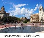 barcelona  spain   august 23 ... | Shutterstock . vector #743488696