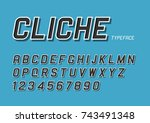 cliche vector decorative bold... | Shutterstock .eps vector #743491348