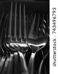 stainless steel fork  abstract... | Shutterstock . vector #743496793