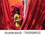 dhaka  bangladesh   october 28  ... | Shutterstock . vector #743508913