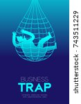 business trap design vertical... | Shutterstock .eps vector #743511229