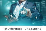 human resources hr management... | Shutterstock . vector #743518543