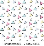 pattern triangle hand drawn | Shutterstock .eps vector #743524318