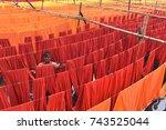 dhaka  bangladesh   october 28  ... | Shutterstock . vector #743525044