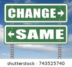change same repeat the old or... | Shutterstock . vector #743525740
