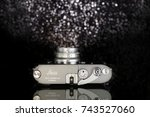 leica mp grey anthracite.the... | Shutterstock . vector #743527060