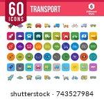 transport icons   Shutterstock .eps vector #743527984