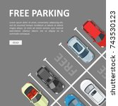 free parking template. place... | Shutterstock .eps vector #743530123