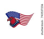 american eagle vector... | Shutterstock .eps vector #743537236