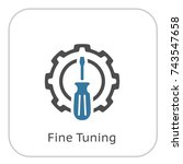 fine tuning icon. gear and... | Shutterstock .eps vector #743547658