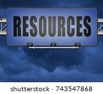resources human or natural...   Shutterstock . vector #743547868