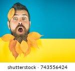 man with natural yellow fall