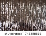 aluminum foil based on.... | Shutterstock . vector #743558893