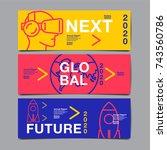 banner design 2020  future ... | Shutterstock .eps vector #743560786