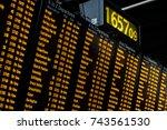 an electronic passenger... | Shutterstock . vector #743561530