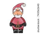 santa claus  vector illustratin | Shutterstock .eps vector #743562640