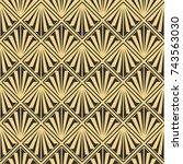 vector modern tiles pattern.... | Shutterstock .eps vector #743563030