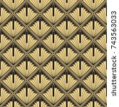 vector modern tiles pattern.... | Shutterstock .eps vector #743563033