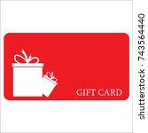 gift card for holidays  new... | Shutterstock .eps vector #743564440