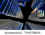 buildings low angle view   Shutterstock . vector #743578819