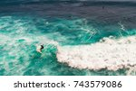 suluban surf beach direction... | Shutterstock . vector #743579086