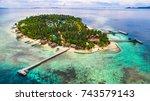 arborek island. raja ampat ...   Shutterstock . vector #743579143