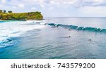 suluban surf beach direction... | Shutterstock . vector #743579200