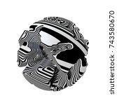 3d render of an abstract... | Shutterstock . vector #743580670